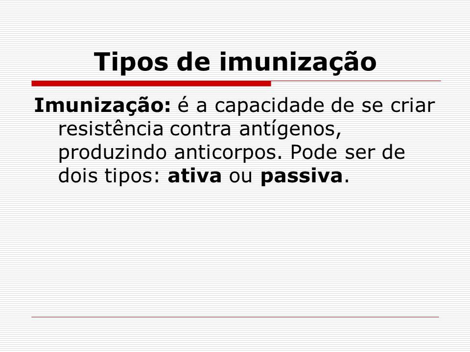 Tipos de imunização