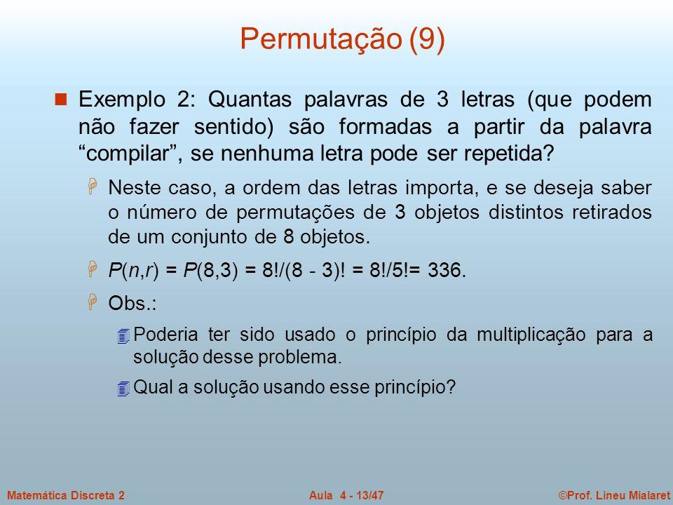 Permutação (9)
