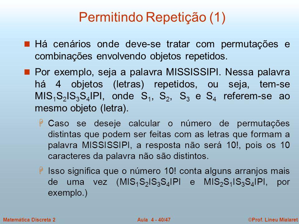 Permitindo Repetição (1)