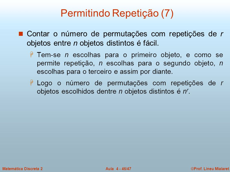 Permitindo Repetição (7)