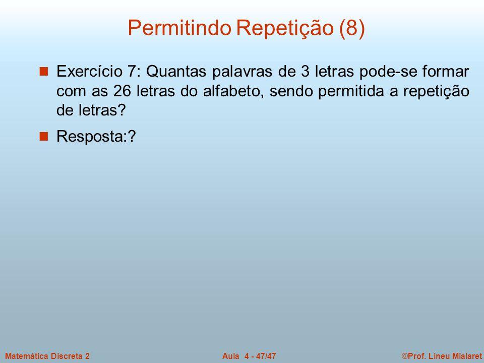 Permitindo Repetição (8)