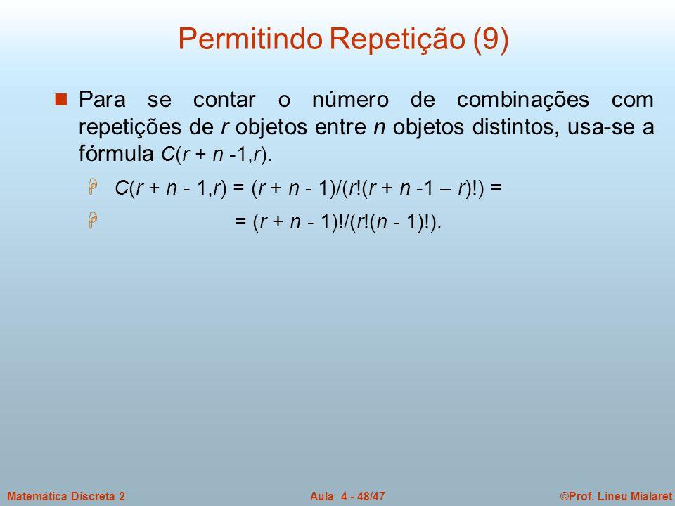 Permitindo Repetição (9)