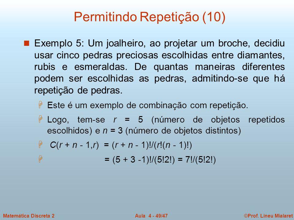 Permitindo Repetição (10)
