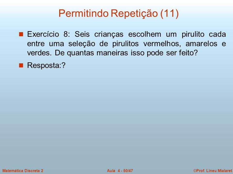 Permitindo Repetição (11)