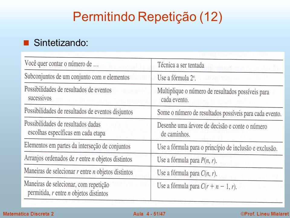 Permitindo Repetição (12)