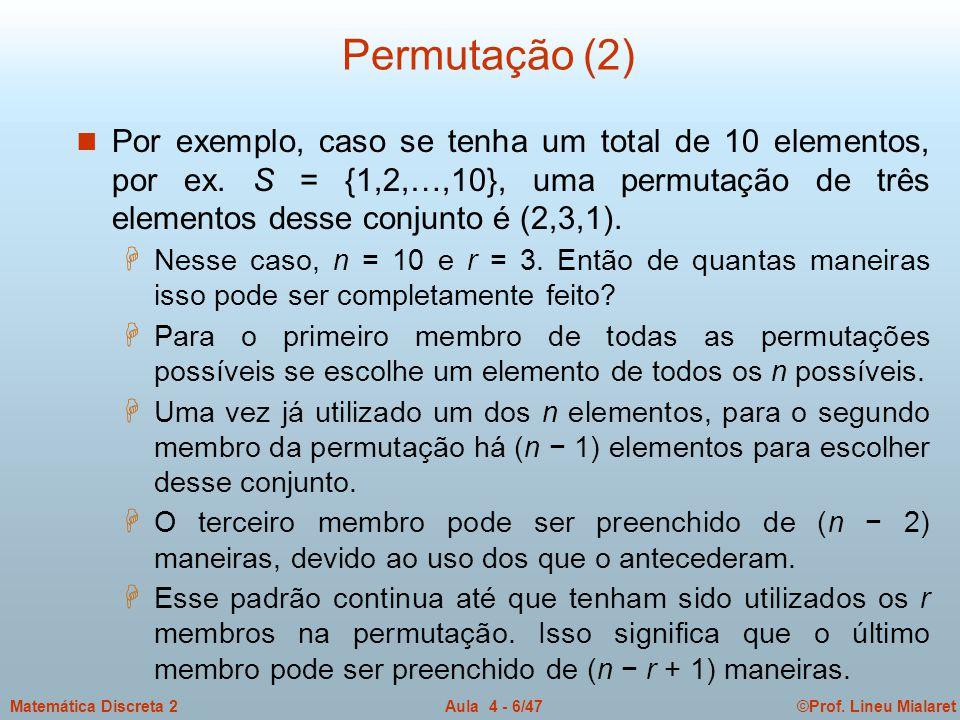 Permutação (2)