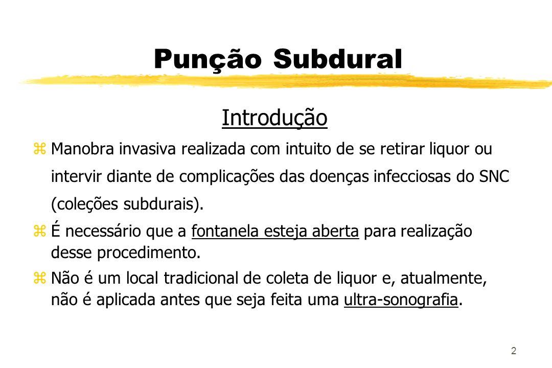 Punção Subdural Introdução