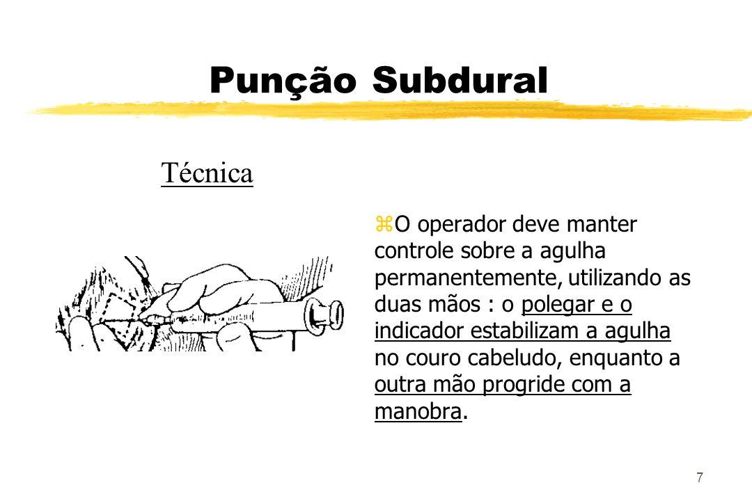 Punção Subdural Técnica