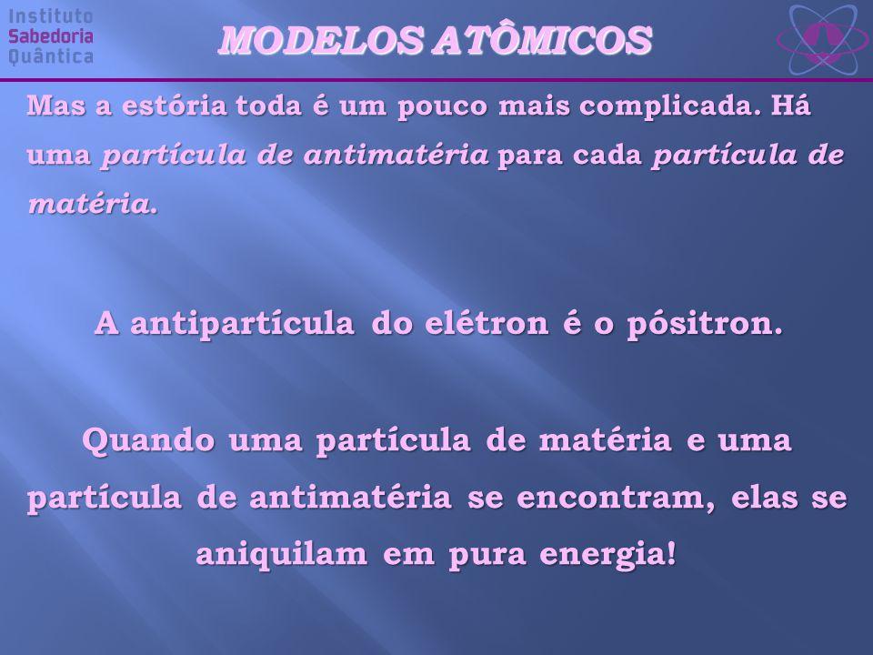 A antipartícula do elétron é o pósitron.
