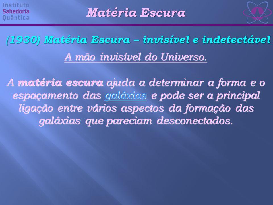 (1930) Matéria Escura – invisível e indetectável