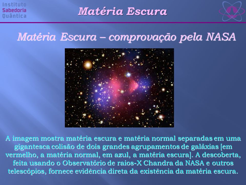 Matéria Escura – comprovação pela NASA