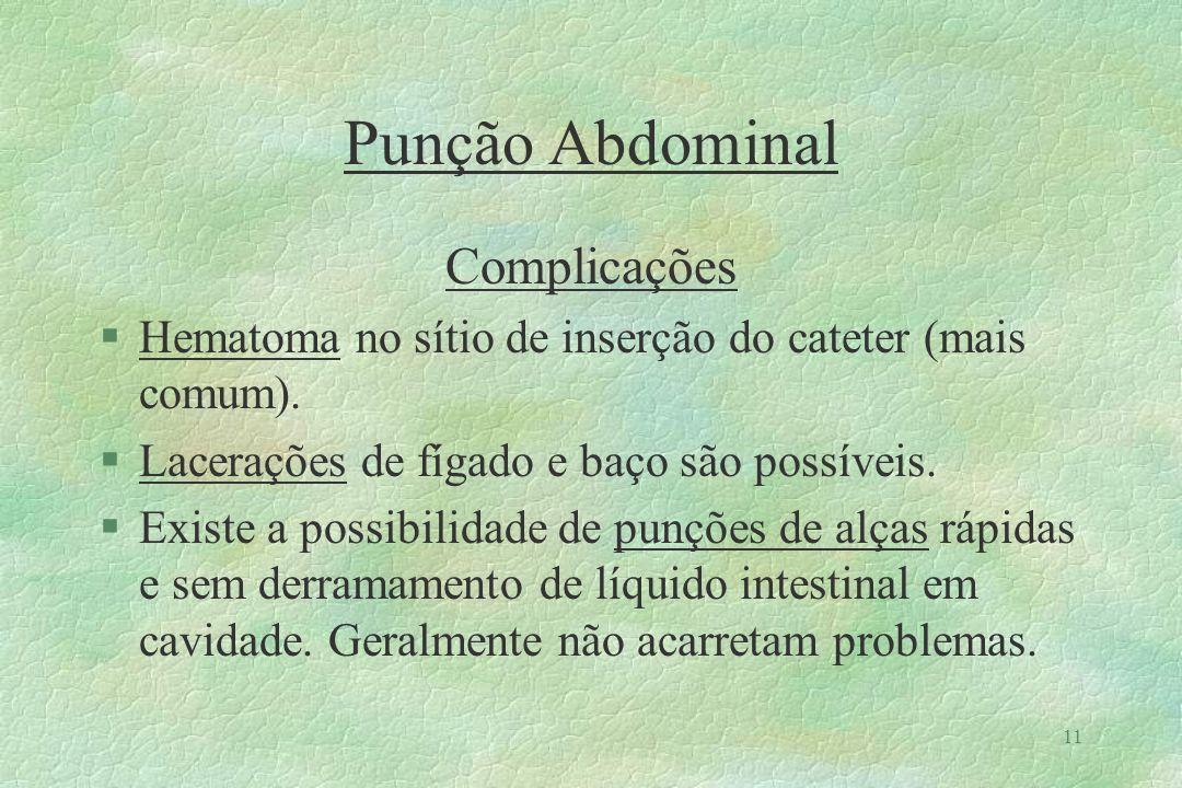Punção Abdominal Complicações
