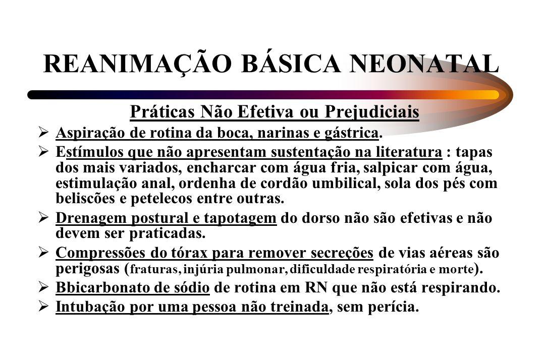 REANIMAÇÃO BÁSICA NEONATAL