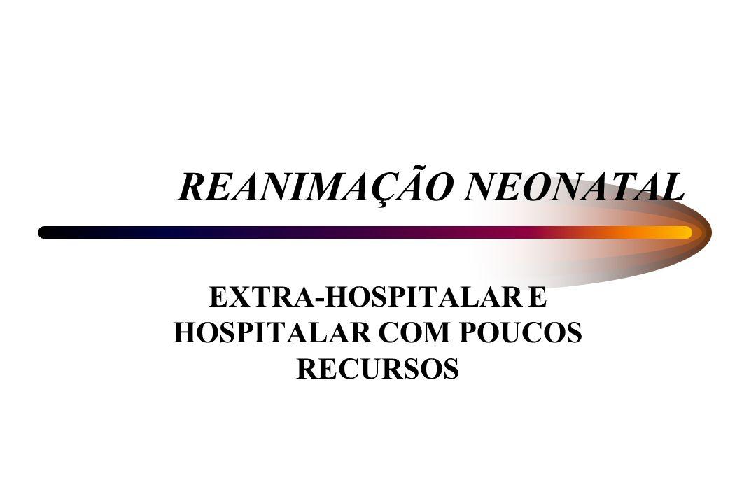 EXTRA-HOSPITALAR E HOSPITALAR COM POUCOS RECURSOS