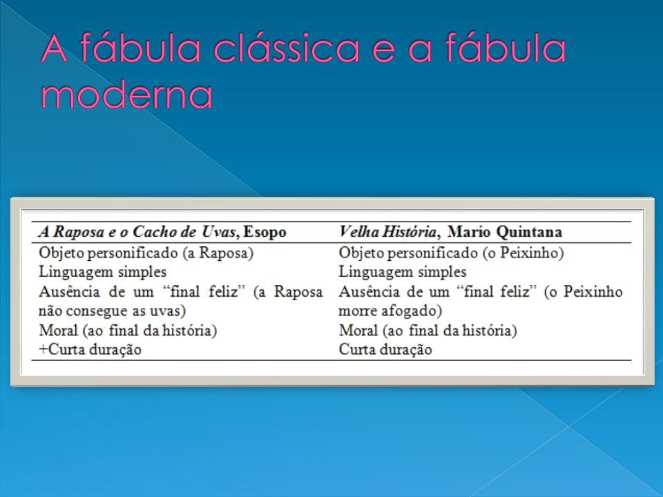 A fábula clássica e a fábula moderna