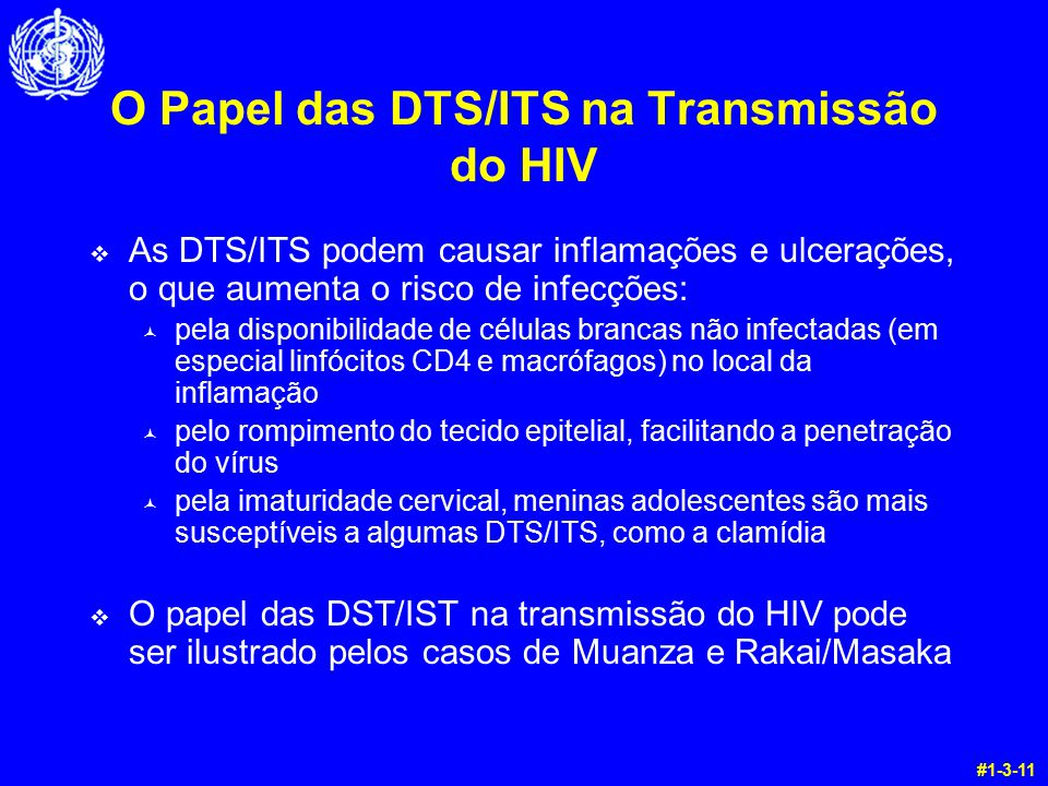 O Papel das DTS/ITS na Transmissão do HIV