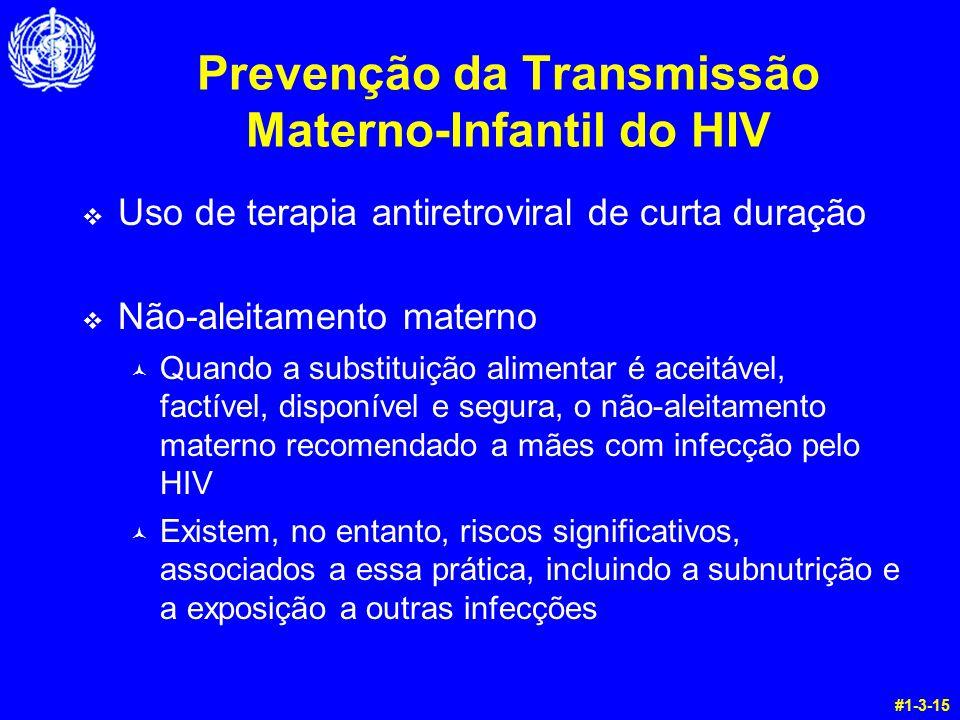 Prevenção da Transmissão Materno-Infantil do HIV