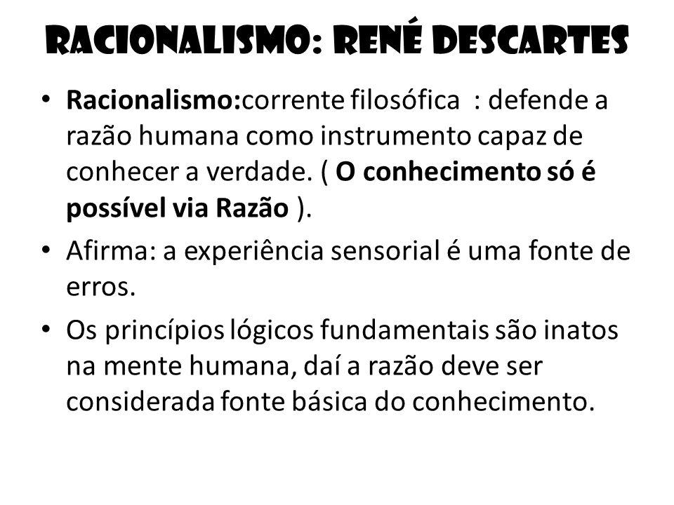 Racionalismo: René Descartes