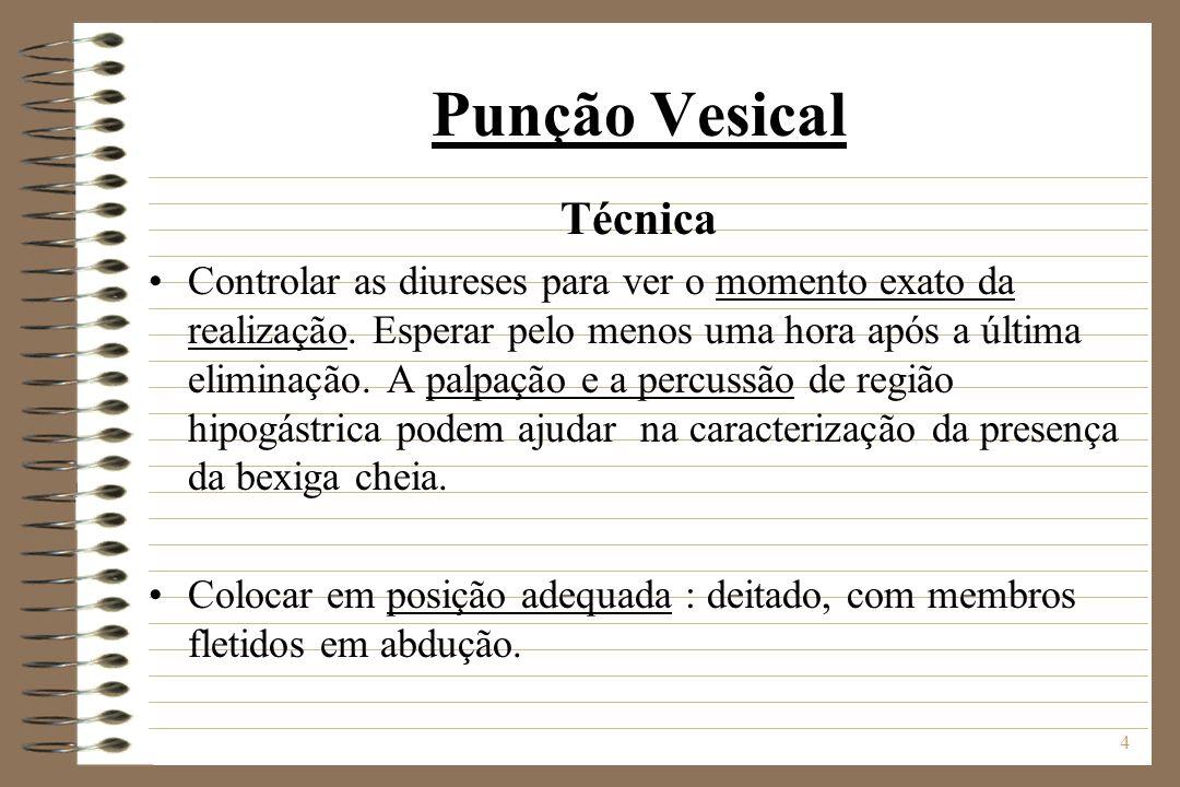 Punção Vesical Técnica