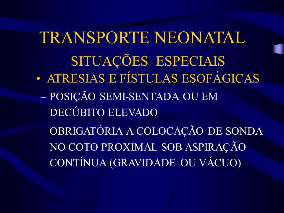 ATRESIAS E FÍSTULAS ESOFÁGICAS