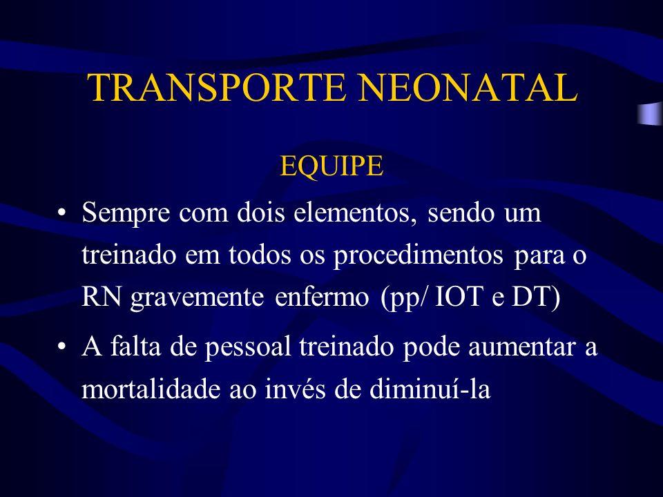 TRANSPORTE NEONATAL EQUIPE