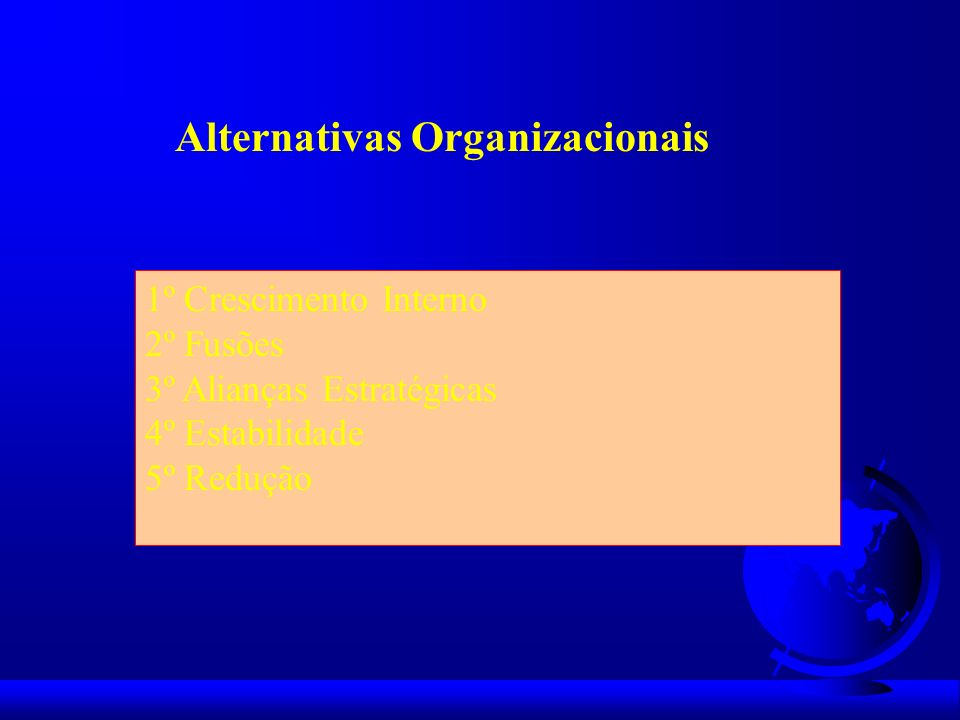 Alternativas Organizacionais