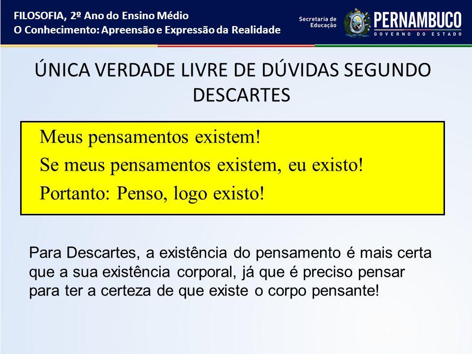 ÚNICA VERDADE LIVRE DE DÚVIDAS SEGUNDO DESCARTES