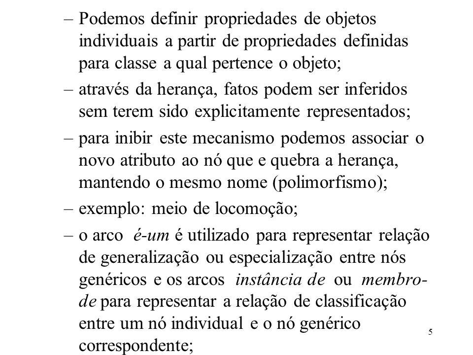 Podemos definir propriedades de objetos individuais a partir de propriedades definidas para classe a qual pertence o objeto;