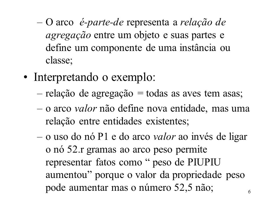 Interpretando o exemplo: