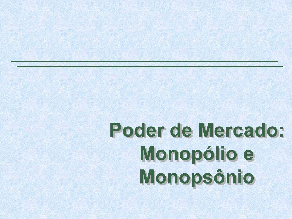 Poder de Mercado: Monopólio e Monopsônio