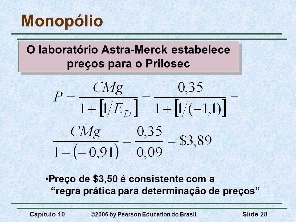 O laboratório Astra-Merck estabelece preços para o Prilosec
