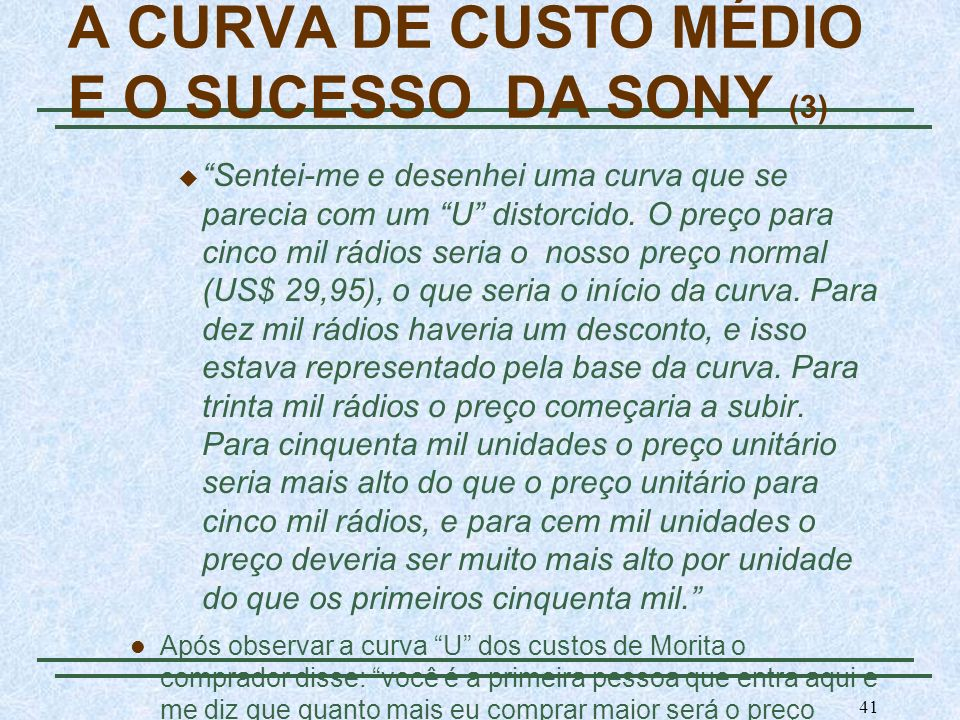 A CURVA DE CUSTO MÉDIO E O SUCESSO DA SONY (3)