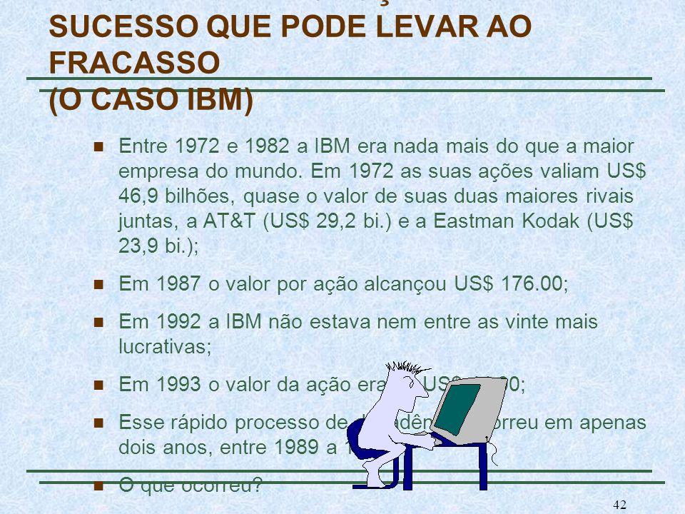 A ESCALA DE PRODUÇÃO E O SUCESSO QUE PODE LEVAR AO FRACASSO (O CASO IBM)