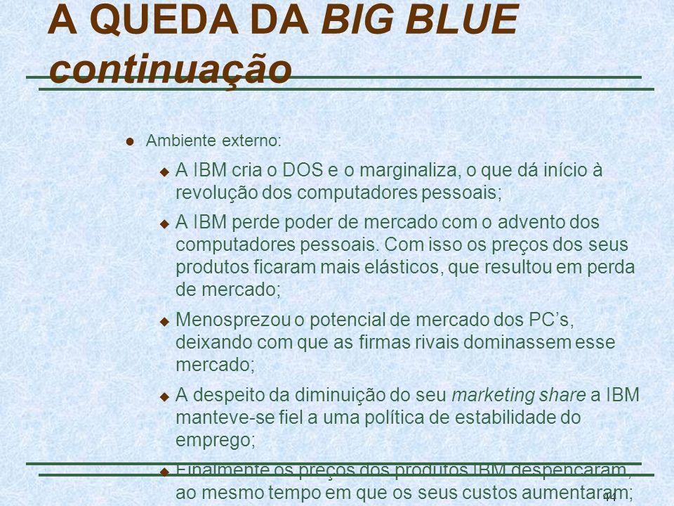 A QUEDA DA BIG BLUE continuação