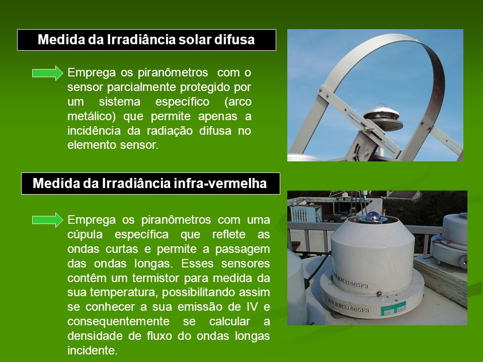 Medida da Irradiância solar difusa