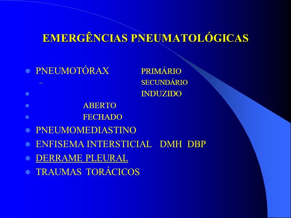 EMERGÊNCIAS PNEUMATOLÓGICAS