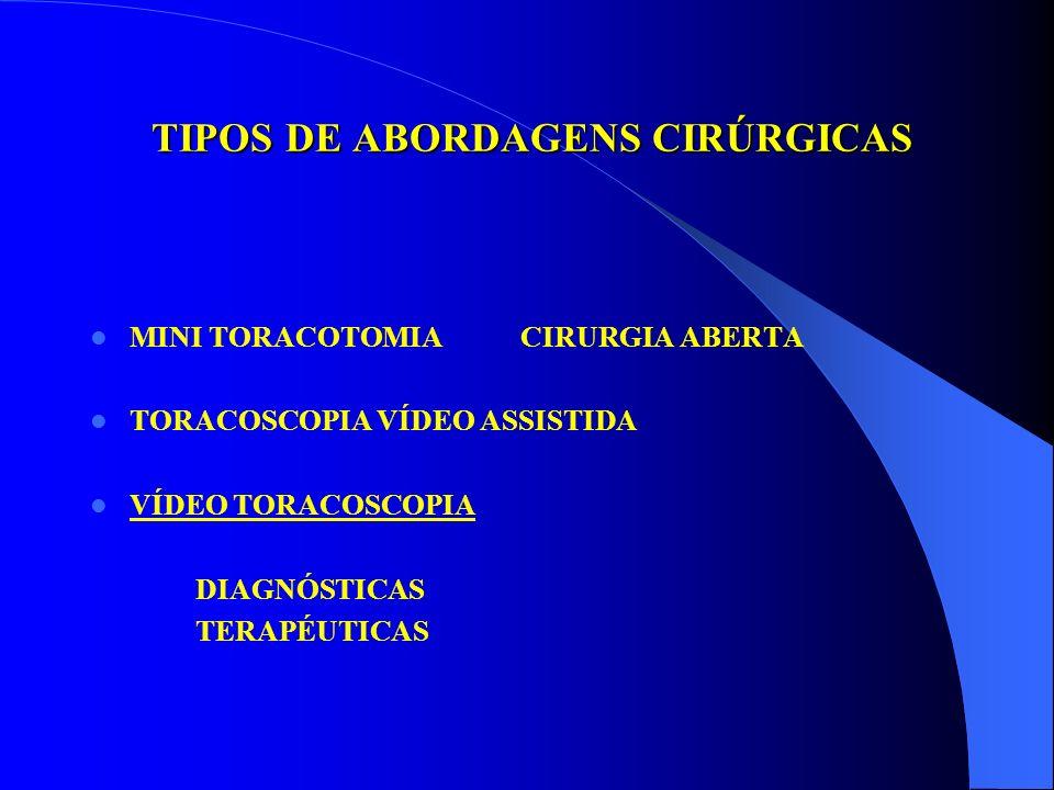 TIPOS DE ABORDAGENS CIRÚRGICAS