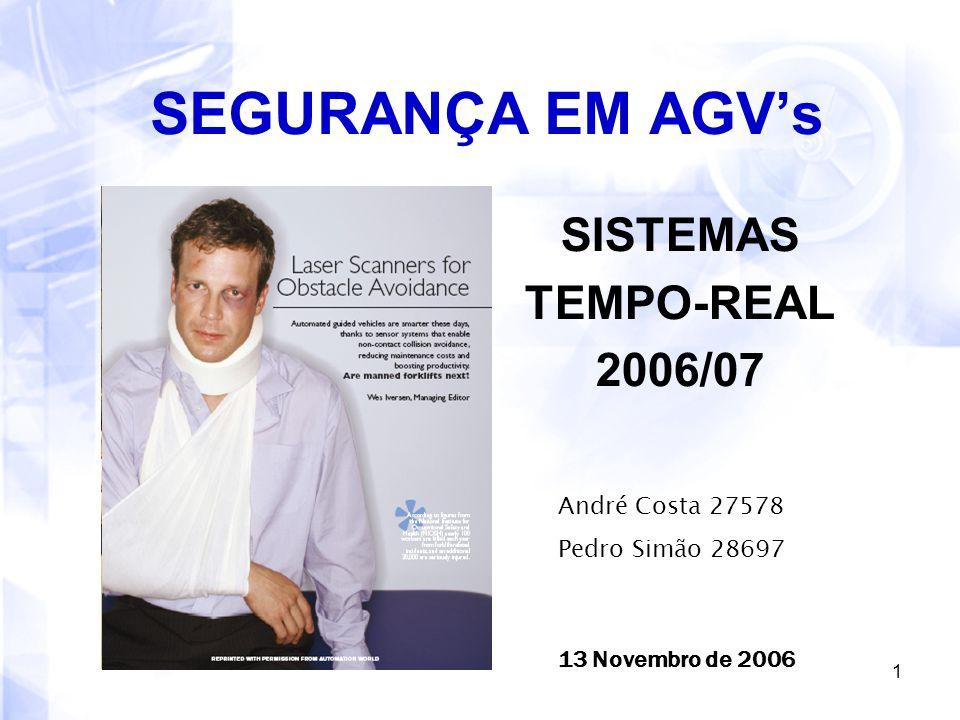 SEGURANÇA EM AGV's SISTEMAS TEMPO-REAL 2006/07 André Costa 27578