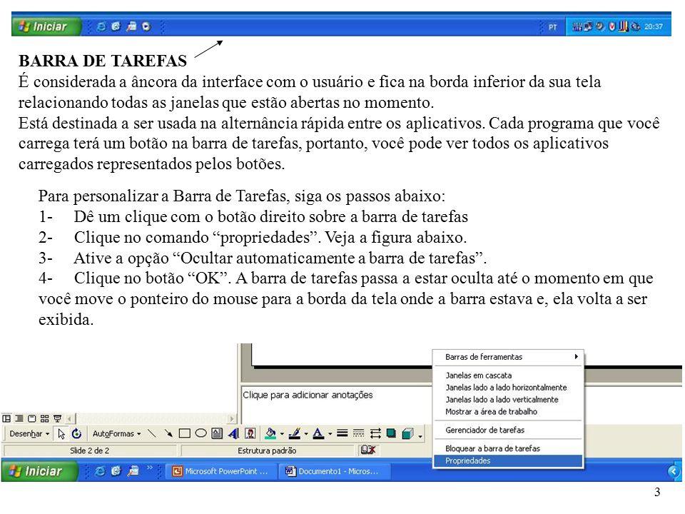 BARRA DE TAREFAS
