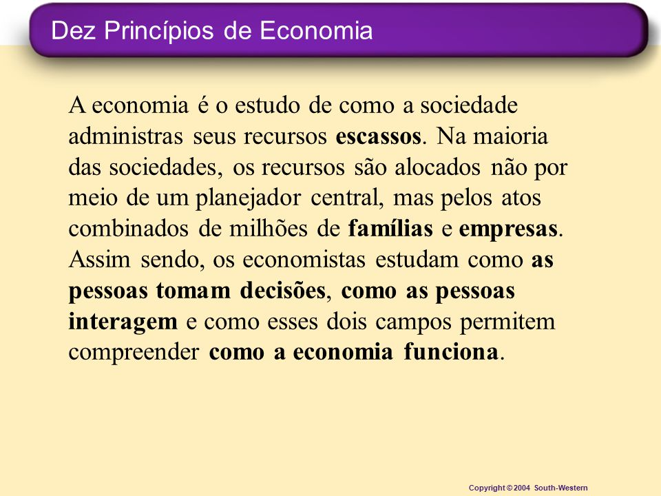 Dez Princípios de Economia