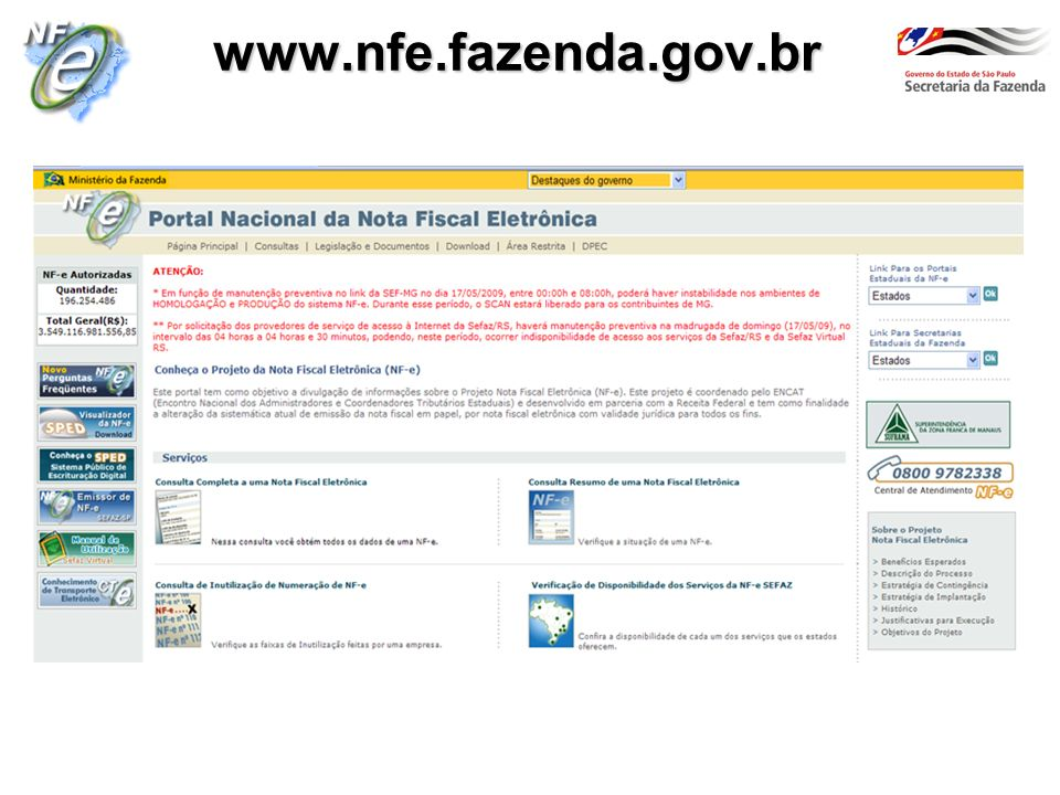 www.nfe.fazenda.gov.br