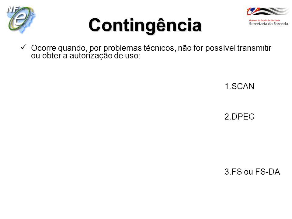 Contingência 1.SCAN 2.DPEC 3.FS ou FS-DA