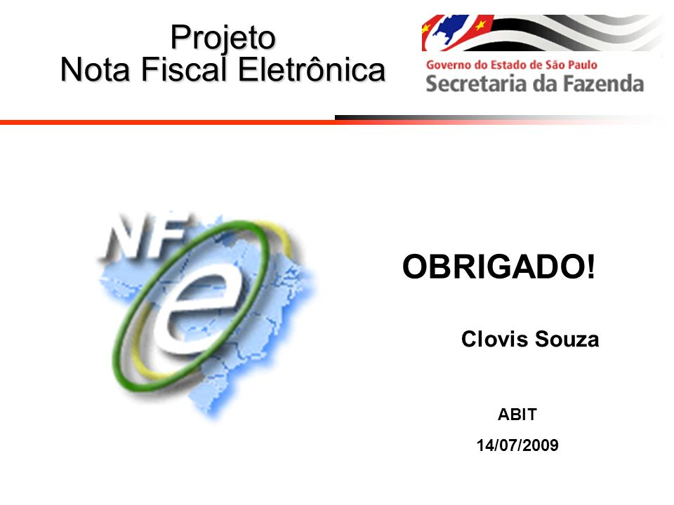 Projeto Nota Fiscal Eletrônica