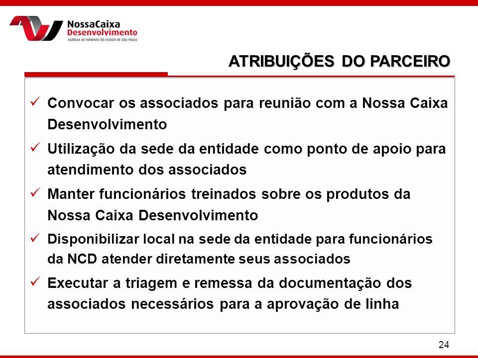 ATRIBUIÇÕES DO PARCEIRO