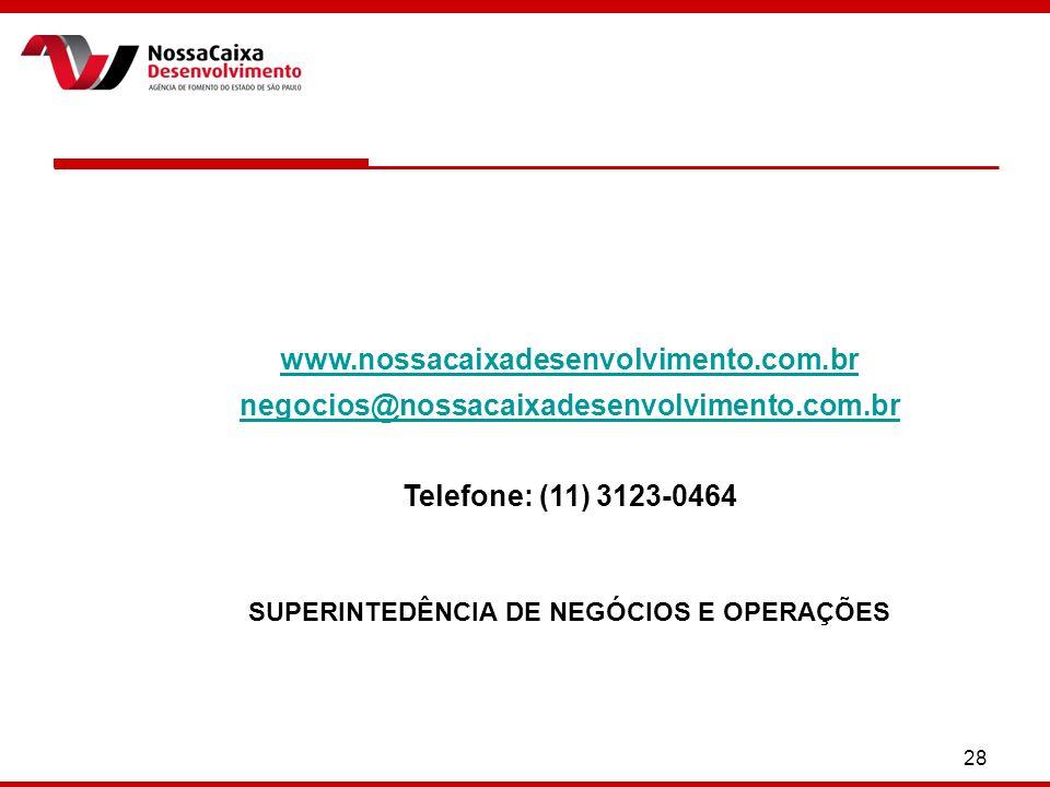 SUPERINTEDÊNCIA DE NEGÓCIOS E OPERAÇÕES