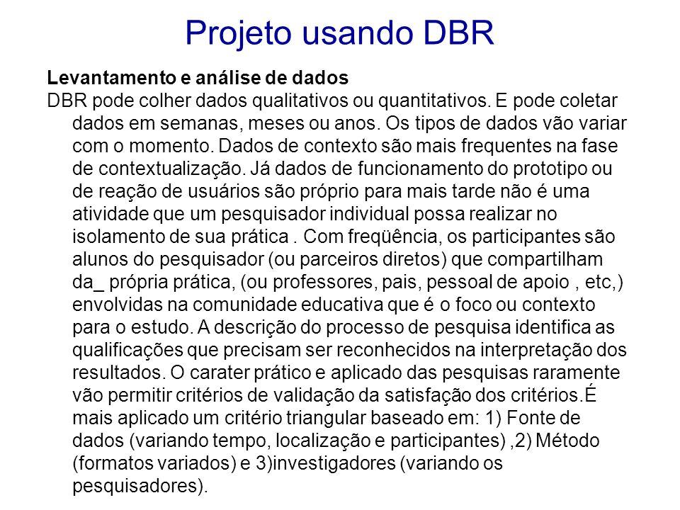 Projeto usando DBR Levantamento e análise de dados