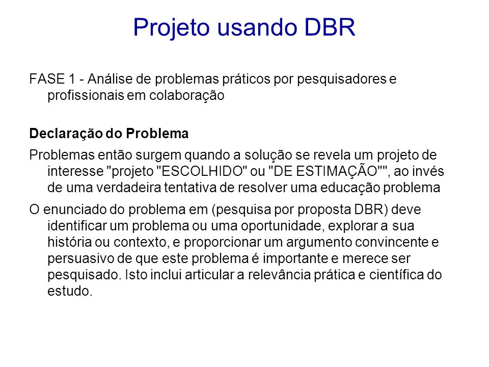 Projeto usando DBR