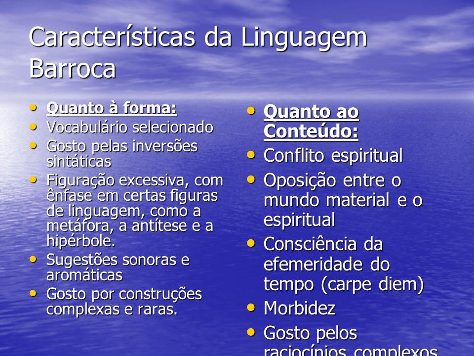 Características da Linguagem Barroca