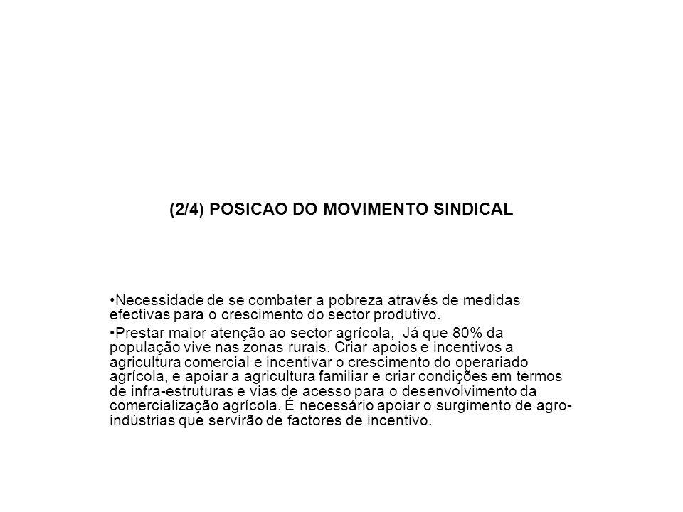(2/4) POSICAO DO MOVIMENTO SINDICAL