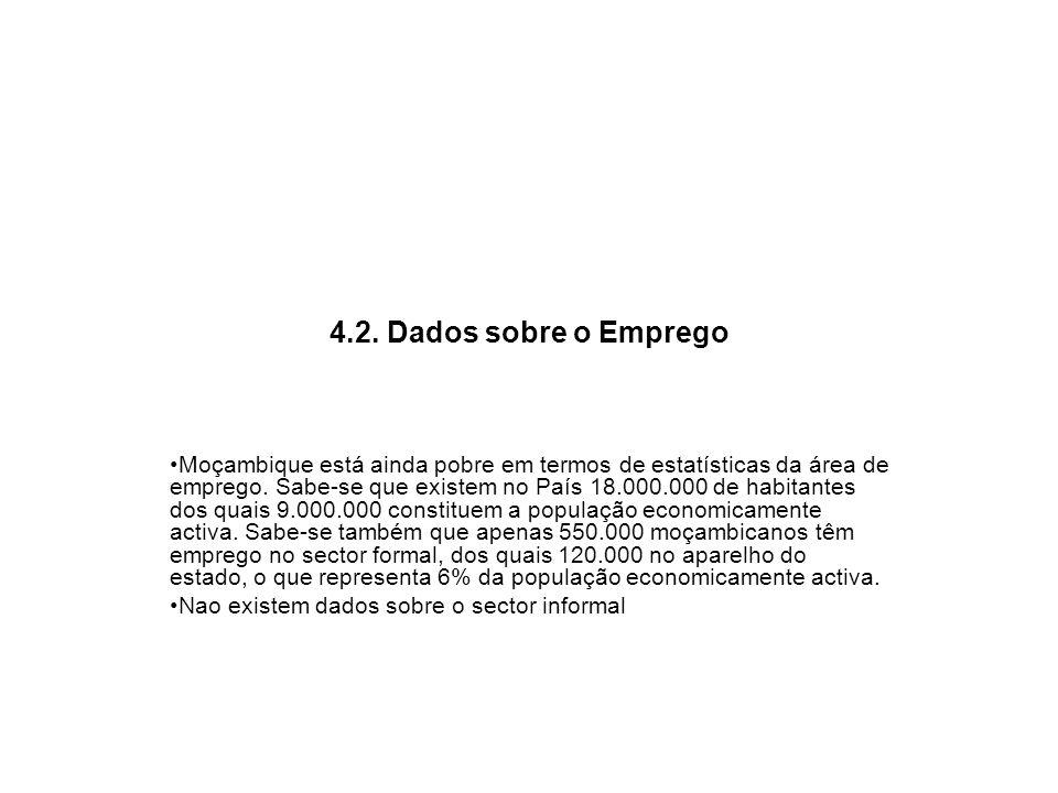 4.2. Dados sobre o Emprego